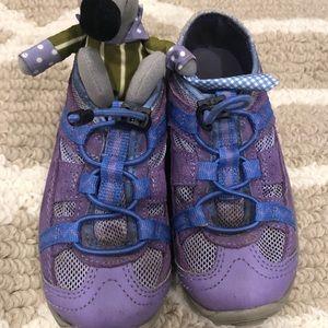 Lands End kids purple waterproof trail shoe hiker